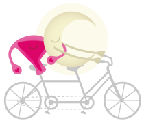 Womb and Moon on a bicycle